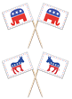 The Political Season is in Full Swing; Get Your Party Started With Festive Toothpick Party Flags From ToothpickFlag.com