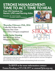 free stroke management seminar at Lester Senior Housing Community
