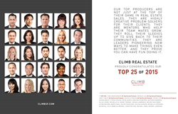 Climb's 25 top-producing agents for 2015.