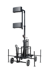 7' to 13' Telescoping Antenna Tower with Wheeled Cart Base