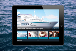 The new Crystal Cruises guest service application, by Intelity