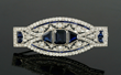Edwardian Platinum, Diamond and Sapphire Brooch