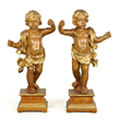 Pair of 19th Century Italian Carved Putti