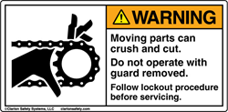 Clarion Machinery Warning Label