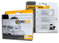 DNA Test Assured is a new low-cost home paternity test kit available at select Family Dollar locations.