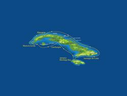 Cuba Cruise by Celestyal Cruises Map