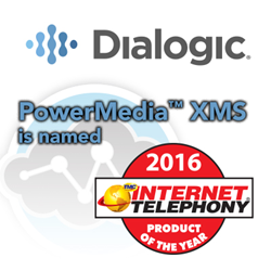 Dialogic Receives 2016 INTERNET TELEPHONY Product of the Year Award