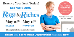 Champions School of Real Estate presents Barbara Corcoran to the DFW and Houston regions for a keynote delivery May 2016