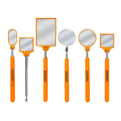 HiVis Orange Inspection Mirrors from Industrial Magnetics, Inc.