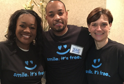 Coast Dental North Lakeland team members Terrell Moore, Dr. Everet Lake, and Suzan Sweeney, RDH, volunteered at Dentistry of the Heart on Feb. 5, 2016.