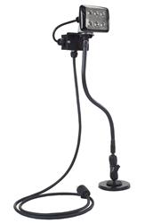 Magnetically Mounted 6 Watt LED Work Light on Goose-Neck Base