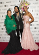 Sue Wong with rockstar Dave Navarro and America's Next Top Model Katie Cleary at Sue Wong's FAIRIES & SIRENS Fashion Show Photo by Michael Bezjian