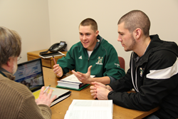 Most of Husson University's accounting students are enrolled in a five-year master's degree program which will allow the graduates to sit for the Certified Public Accountant's examination.