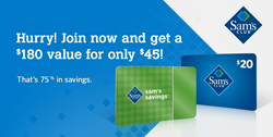 Sam's Club gift card offer