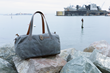 Vitesse Duffel—grey waxed canvas
