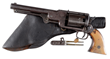 "Lot 2203, the only surviving specimen of a ""Sisterdale Texas"" Dragoon Army Revolver. It is complete with original horn grips.  Estimate: $150K-250K."