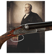 "Lot 2429, a Lefever ""Optimus"" quality shotgun, presented to Benjamin Harrison for his ""Protection to American Industry."" Probably the most important 19th century American shotgun. Estimate: $75K-125K."