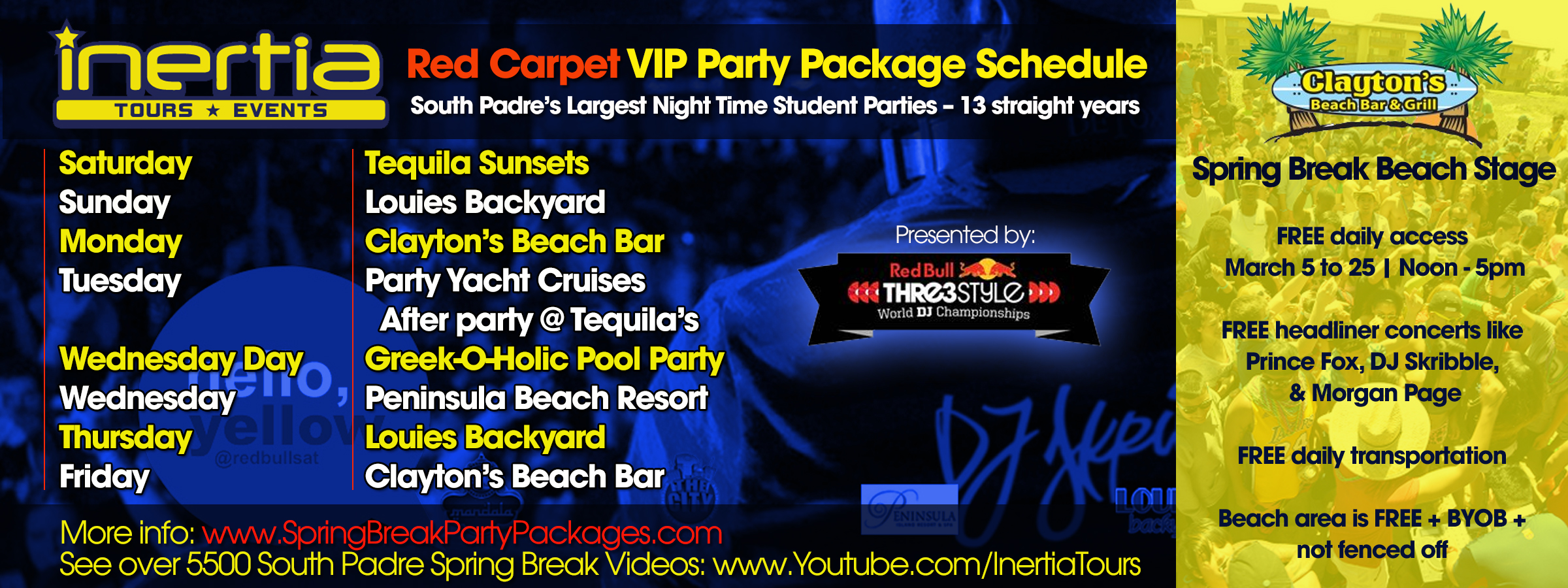 celebrity lineup released by springbreakpartypackages for march