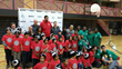 Youth at the Masaryk-Cowan Community Centre join Connor Sports, the NBPA and Sim Bhullar and Nik Stauskus