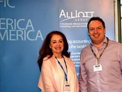 Alliott Group CEO James Hickey welcomes Dorothy Tarver of Taggart Morton to Alliott Group's worldwide membership