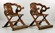 Pair of Chinese Huanghuali Dragon Armchairs