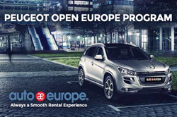 Auto Europe offers Peugeot Open Europe Program