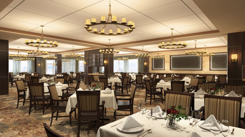 Kingswood senior living community plans major redesign for Senior living dining room