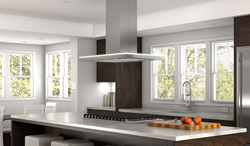 Zephyr Launches Lucé Island Range Hood with Icon Touch™ Controls Subtle Ambient Lighting, Innovative New Technologyq