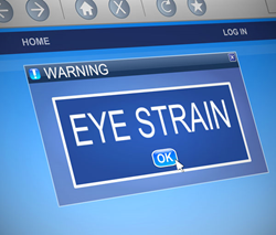 Eye strain and computer use