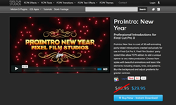 ProIntro New Year - Final Cut Pro X Effects - Apple FCPX