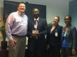 David A. Johnson, co-founder of St. Croix-based consulting firm Cane Bay Partners VI, poses with officials of the Gov. Juan F. Luis Hospital on Wednesday after completing a $50,000 donation to the Women's and Children's Division.