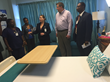 David A. Johnson, co-founder of St. Croix-based consulting firm Cane Bay Partners VI, takes a tour of the rooms renovated using the first installment of his $50,000 donation to the Women's and Children's Division of the Gov. Juan F. Luis Hospital on Wedne