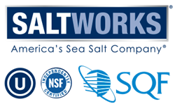 Saltworks is SQF certified level 2 with an Excellent rating.