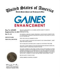 Registered Trademark: Gaines Enhancement®