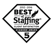 2016 Best of Staffing Client Diamond Award Winner