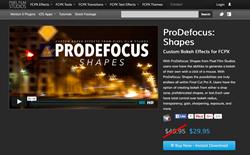 Apple FCPX Plugins - ProDefocus Shapes