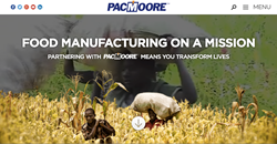 Food Manufacturer PacMoore Products releases their new website