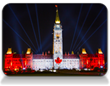 Christie Technology Displays Northern Lights Across Canada's Parliament Hill