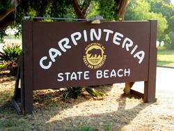 Carpinteria State Beach, outdoor interpretive exhibit