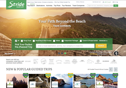 Stride Travel homepage