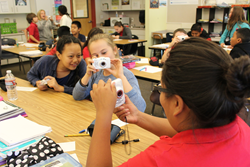 "Sixth-grade students at Whittier Elementary School take part in the ""Beloved Community"" photography project, sponsored by Salt Lake Community College's School of Arts, Communication and Media."