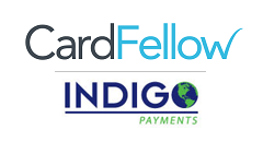 CardFellow logo with Indigo Payments