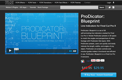 ProDicator Blue Print - FCPX Plugins and Effects