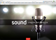 Sound's redesigned site features sleek design and the lastest in web functionality.
