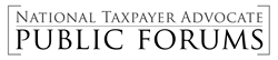 National Taxpayer Advocate Public Forum Logo