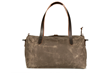 Vitesse Duffel—rear view, brown waxed canvas