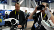 Joel Carter and CEO Chris Howard at CES 2016 showcasing Wearable Tech and virtual reality expertise