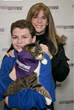 Jill Rappaport at the Southampton Animal Shelter with a shelter volunteer at the ParaDefense shelter event.