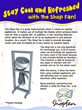 The Shop Fan is  a household invention that efficiently cools and allows air to circulate.