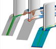 Tecplot 360 EX is used to visualize airflow around turbine blades and their endwalls.